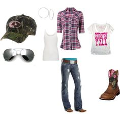 """country girl"" by rebel79 on Polyvore Girl Swag, Country Style, Country Wear, Country Fashion, Fall Fashion, Trendy Fashion, Southern Style, Fashion Outfits, Southern Pride"