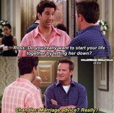 Chandler has a point Friends Funny Moments, Friends Episodes, Friends Cast, Friends Series, Friends Show, Friends In Love, Friends Season 8, Chandler Friends, Ross Geller