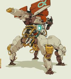 And get ready for another inspiration pick with Brian Sum, Concept Artist who's worked on Mass Effect 2 and Dragon Age Origins, Sonic Chronicles, and Arte Robot, Robot Art, Character Concept, Character Art, Cyberpunk Kunst, Robots Drawing, Robot Concept Art, Futuristic Art, Cool Sketches