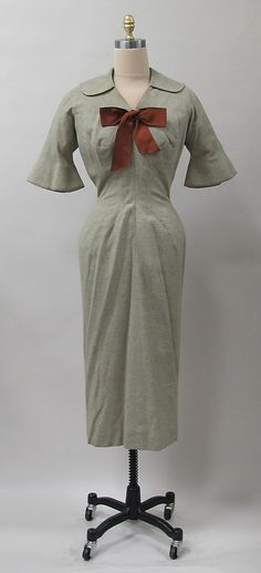 Dress Charles James Manufacturer: (sample made for) Samuel Winston Date: 1952–53 Culture: American Medium: wool Accession Number: 2013.350