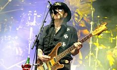 Lemmy performing with Motörhead at Glastonbury, where he sang Ace of Spades instead of Overkill.