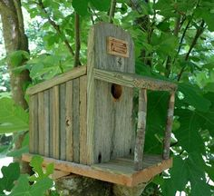 Rustic Cedar Storefront Birdhouse by SwampwoodCreations on Etsy