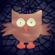 Owl (toddler art project, with help from Mama)