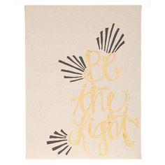 Be the Light Linen Canvas Wall Decor