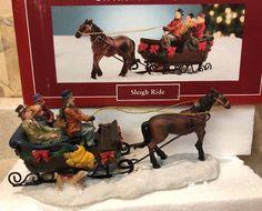 "The+Village+Collection+St+Nicholas+Square+""+Christmas+Sleigh+Ride+Horse+MIB+#StNicholasSquare"