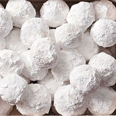 Snowballs - Christmas cookie classic!    Ingredients    Print  Email  Send To Mobile  Save Recipe  Add to Menu  Add to Shopping List  1/2 cup slivered almonds  1 cup butter, softened $  1 teaspoon vanilla extract  1 cup powdered sugar  2 1/2 cups all-purpose flour $  1/4 teaspoon salt  Parchment paper  1/2 cup powdered sugar  Preparation    1. Preh