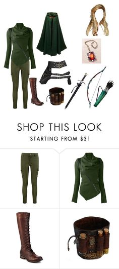 """OUAT OC Neverland"" by makayla-cheyane-frazier ❤ liked on Polyvore featuring Boohoo, Bow & Arrow and Frye"