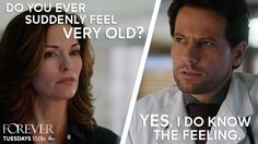 "An immortal is quite familiar with this particular feeling, actually. From ""Forever"", one of my all-time favorite TV shows! #RenewForever"