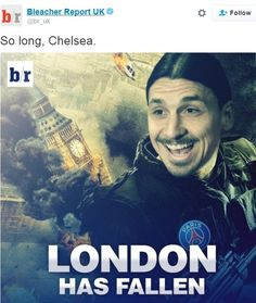 Zlatan Ibrahimovic did his best to take down London, playing a starring role as PSG topple...