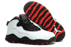 """Chicago"" With Color Black/White-Red NBA Jordan Brand Retro 10 Athletic Shoe - Women Size"