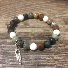 Aromatherapy essential oil diffuser gemstone healing bracelet by LavaSense on Etsy
