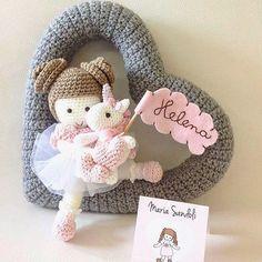 Crochet Toys Patterns, Amigurumi Patterns, Crochet Designs, Crochet Dolls, Handmade Baby Gifts, Handmade Toys, Easter Crochet, Cute Crochet, Baby Kranz