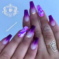 purple nail designs 30 Gorgeous Matte Purple Nails Design You May Try in Prom Long Nail Designs - Water Purple Nail Designs, Long Nail Designs, Acrylic Nail Designs, Nail Art Designs, Nails Design, Purple Nails With Design, Beautiful Nail Designs, Coffin Nail Designs, Unique Nail Designs
