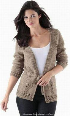 Кардиганы, пуловеры, кофты, свитера (спицы) | Записи в рубрике Кардиганы…