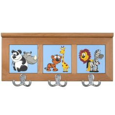 Kids Zoo Animals Coat Rack