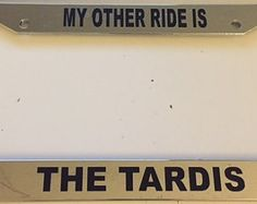 my other car is a tardis automotive chrome license plate frame doctor who - Doctor Who License Plate Frame