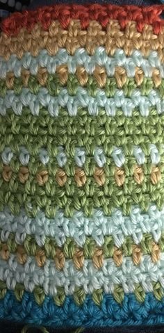 """Temperature afgan using moss stitch or woven stitch. """"H"""" hook.  250 chains by 365 rows should be a twin size blanket 86""""-90"""" long"""