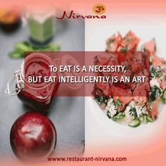 To eat is a necessity, but ‪#‎eat‬ intelligently is an art. Visit here for ‪#‎delicious_foods‬ @http://restaurant-nirvana.com/menu_glimpse.html