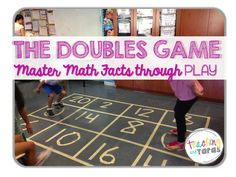 AWESOME Game for Mastering Math Facts! Use sidewalk chalk for recess time Math Strategies, Math Resources, Math Activities, School Resources, Therapy Activities, Math Doubles, Doubles Facts, Mastering Math, Singapore Math
