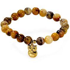 Argento Vivo Owl Beaded Bracelet (200 MYR) ❤ liked on Polyvore