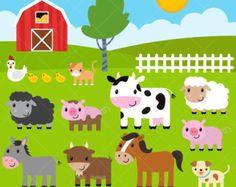 Farm animal clipart - farm animal head clipart - animal head ...