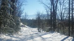 The street where #BlueMountainLodge #vacationrental # cabin is located.. cold and crisp sunny January day after a snowfall.. View of the mountain ridge #SmokyMountains #gatlinburg #winterview #nature #snowinthesmokies