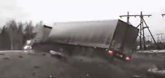 "Crash for Cash & Automotive News: Dash cam videos of ""lorrys coming unstuck"""
