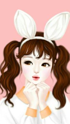 Jennie Enakei Korean Anime Art Illustration Cute Girl