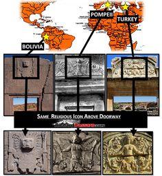 Pagan Staff God Icon Found Above Doorways