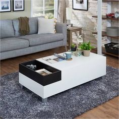 rectangle white coffee table - Google Search