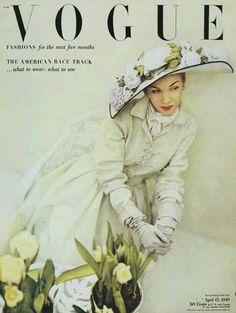 Vogue Magazine Cover, April 1948. Photo John Rawlings
