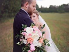 soft pink and white wedding flowers, babies breath bouquet, large and lush wedding bouquet, bouquet with long ribbon, baby pink bridesmaides dresses Pink And White Weddings, White Wedding Flowers, Floral Wedding, Wedding Bouquet, Wedding Designs, Wedding Styles, Wedding Photos, Wedding Vendors, Wedding Ceremony