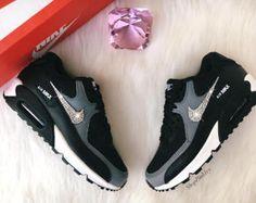 Womens Swarovski Nike Air Max 90 Premium Shoes with Swarovski