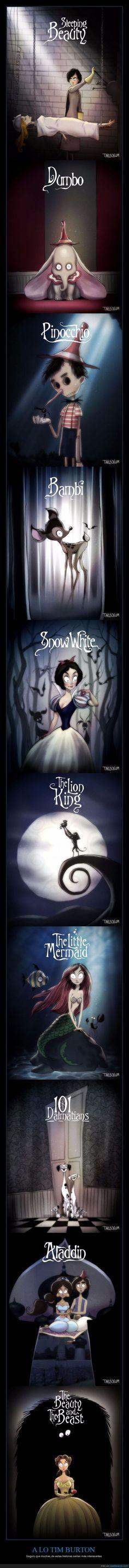Tim Burton ha creado escuela - Seguro que muchas de estas historias serían más interesantes