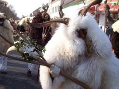 During February in the small Hungarian town of Mohács, the townspeople dress as horned monsters, wander the town swilling spiced wine and homemade pálinka, and make as much noise as humanly possible. Spiced Wine, Holiday Calendar, Fairytale Art, Costume Patterns, Animal Costumes, Busan, Eastern Europe, Deities, Hungary