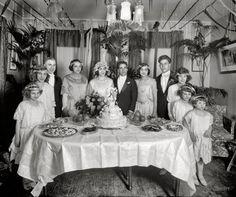 "Washington, D.C., circa 1921. ""Scalco, National Fruit Co."" Salvatore Scalco, the groom, was company president."