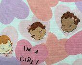 "Valentine's baby blanket, Baby girl crib blanket, 38""X 45"", handmade"