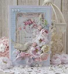 shabby chic/vintage card.