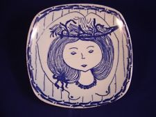 VINTAGE STAVANGERFLINT - KARI NYQUIST - PIN DISH - FOR RESTORATION Stig Lindberg, Designing Women, Emo, Norway, Scandinavian, Restoration, Blue And White, Pottery, Ceramics
