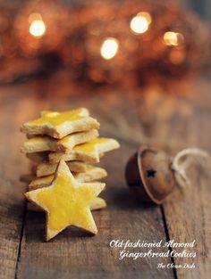 Old-fashioned Almond Gingerbread Cookies vegan, grain free, gluten free, refined sugar free
