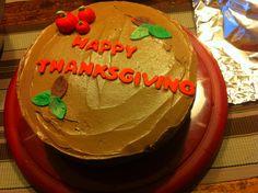 My Thanksgiving butter cream cake