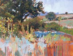"""Assington Mill allotments"" - Original Fine Art for Sale - © Haidee-Jo Summers"