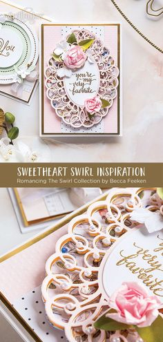 Shapeabilities Sweetheart Swirl Etched Dies Romancing the Swirl Becca Feeken Cards Diy, Love Cards, Handmade Cards, Sue Wilson, Card Crafts, Diy And Crafts, Spellbinders Cards, Big Shot, Amazing Grace