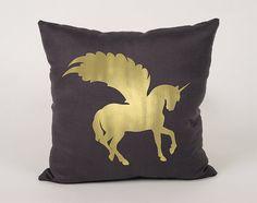 Pegasus Cotton Throw Pillow Cover  16x16 18x18 20x20 by Daneeyo