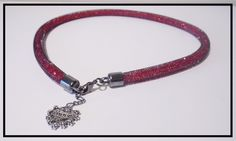 Princess Mesh Crystal Style Necklace