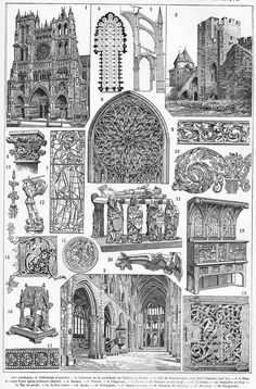 ConceptDrawing of a Gothic Cathedral Gothic Churches