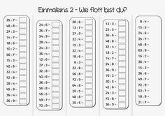 Einmaleins - gemischte Übungsaufgaben | Math | Pinterest | Math ...