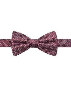 Ryan Seacrest Distinction Men's Beverly Neat Pre-Tied Silk Bow Tie, Created for Macy's - Purple