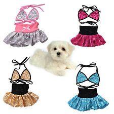 Pet Dog Puppy Costume Bling Cute Bikini Swimsuit Summer Clothing Dress