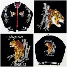 "Vintage Japanese Yokosuka Jumper ERIKA SAWAJIRI ""Betsu Ni"" Idol Actress Tiger Tora Embroidered Embroidery Bomber Tattoo Art Sukajan Souvenir Jacket Tour Jacket - Japan Lover Me Store"